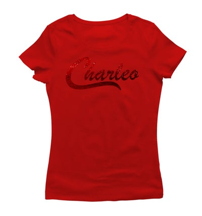 Image of Ladies Original Charleo Tee  Red/Ruby Bling