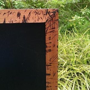Big Chalkboard with Burnt Wood Frame