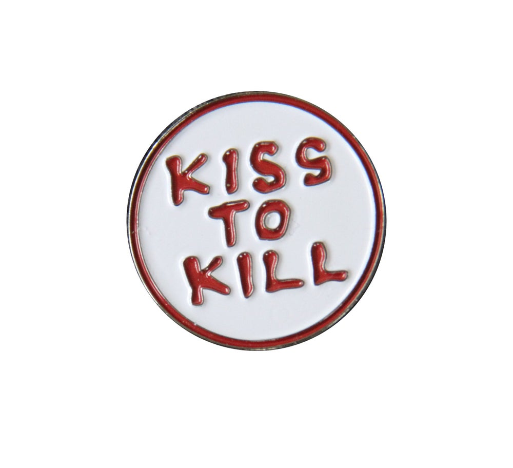 "Image of MANWOLFS 'KISS TO KILL"" LAPEL PIN"