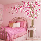 Image of Cherry Blossom Tree Wall Decal for Home and Nursery