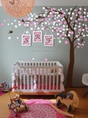 Cherry Blossom Tree Wall Decal for Home and Nursery