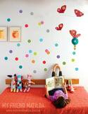 Colourful Polka Dots Wall Decal