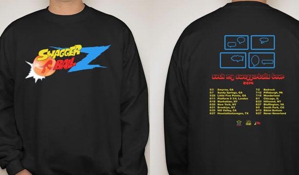 Image of Suck My Swaggerballs Tour 2014 sweatshirt