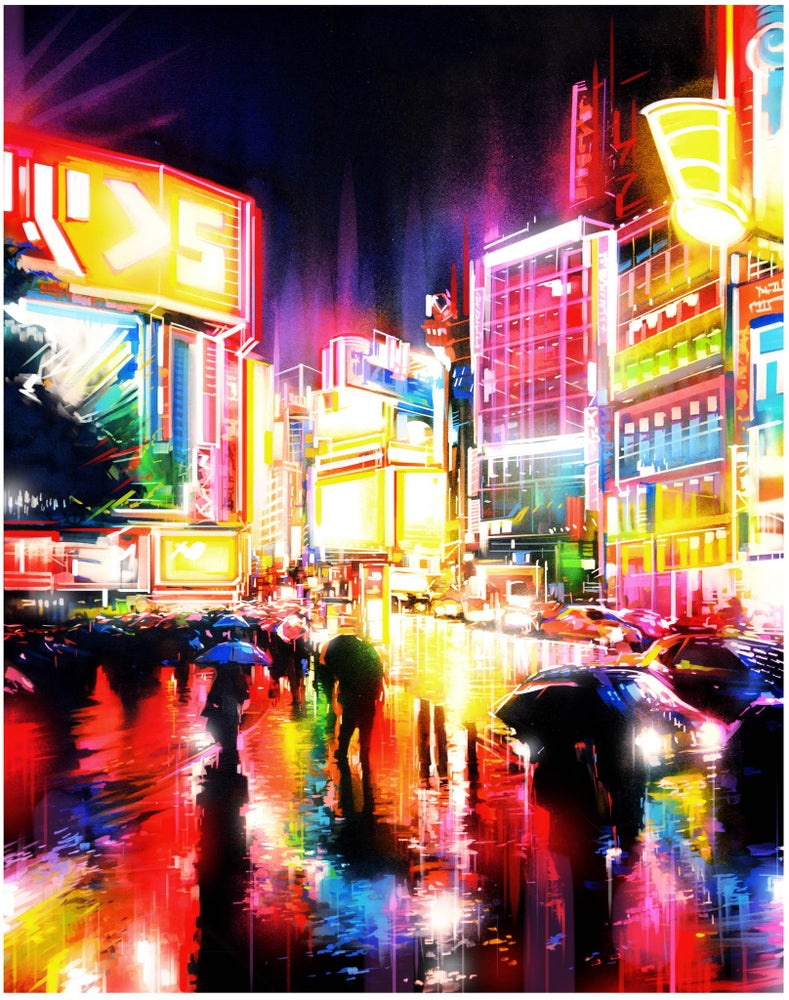'Liquid Lights' - Limited edition Giclee print