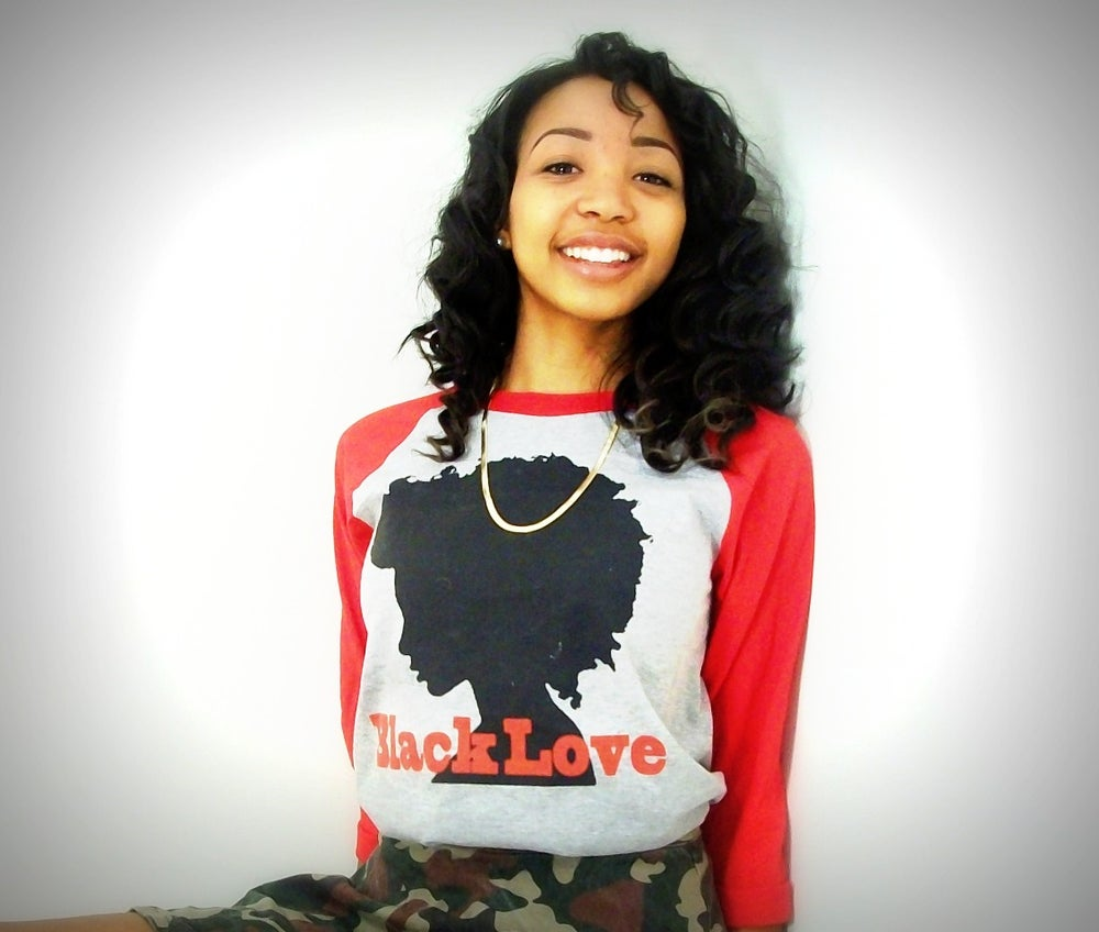 Image of #BLACKLOVE baseball SHIRT CLASSIC up no