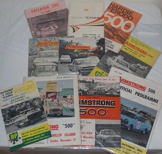 Image of 1965 BATHURST Programme. ARMSTRONG 500.