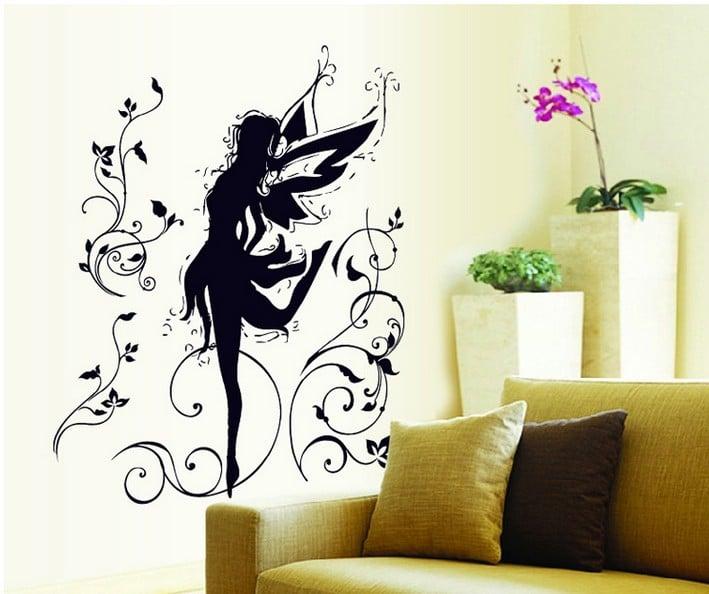 Vinyl Home Decor Wall Sticker-dancing Flower Elf / Wall Decal