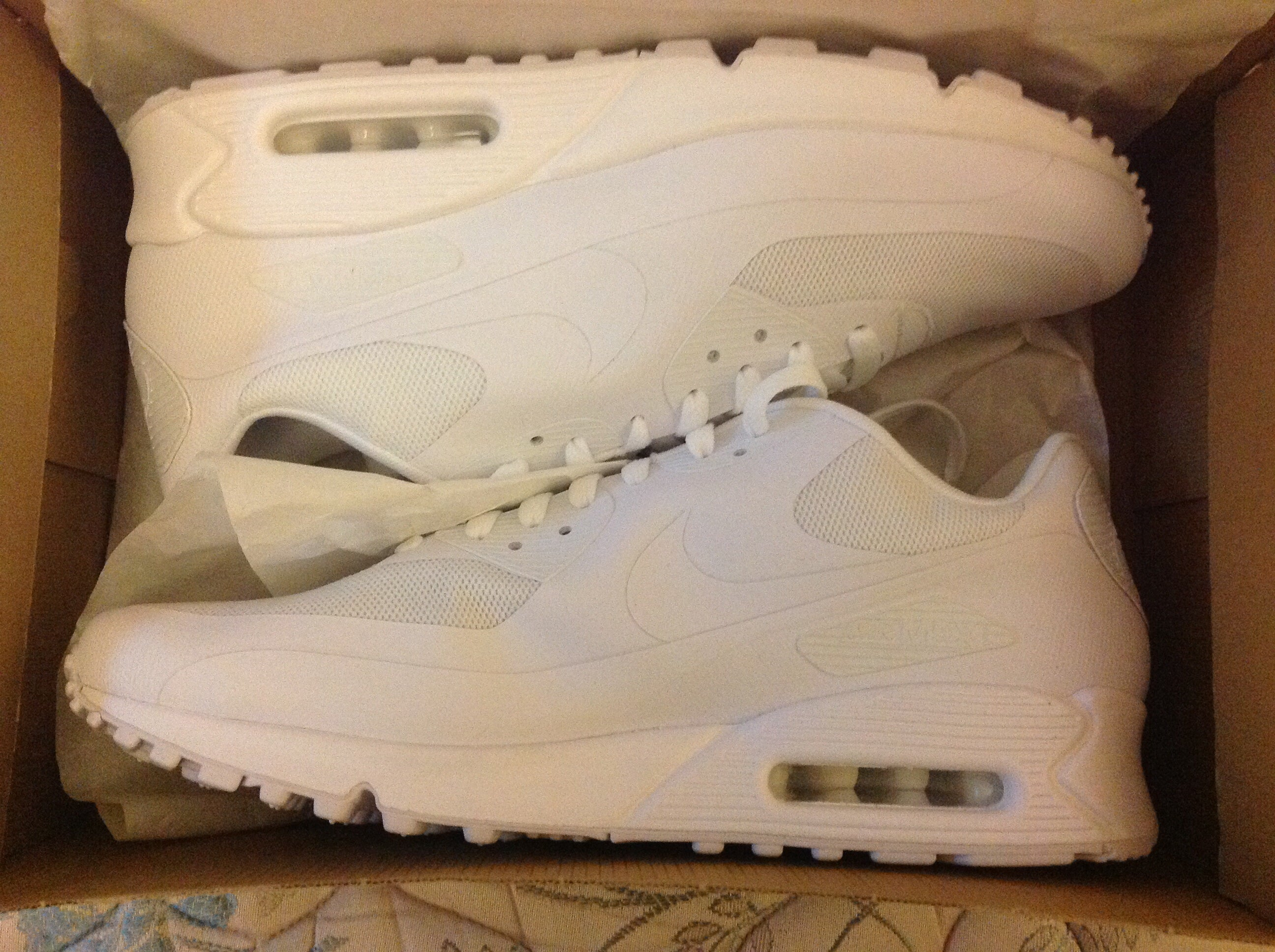 """NIKE AIR MAX 90 HYPERFUSE WHITE """"INDEPENDENCE DAY"""" QS / DopeKickin"""