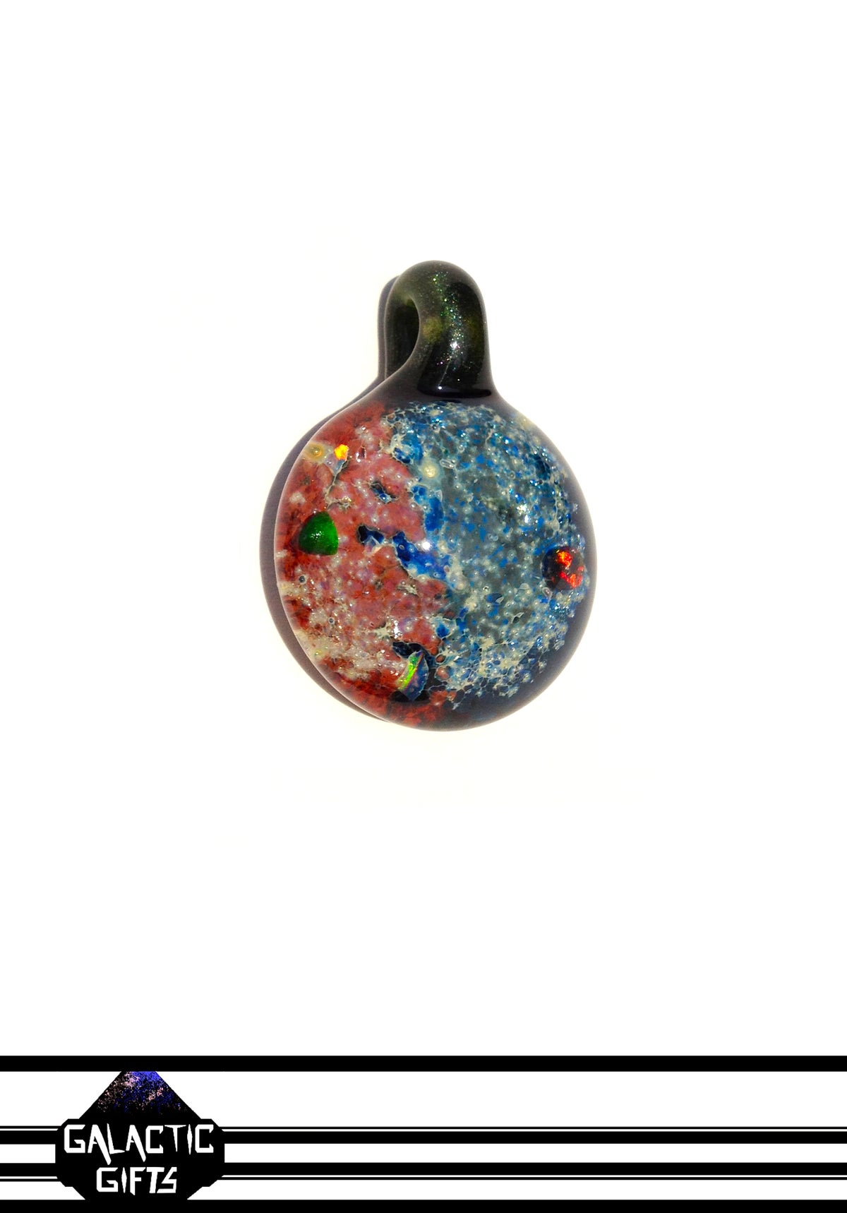 Image of Trevor Logan Space Pendant In Pink & Blue With 4 Opals