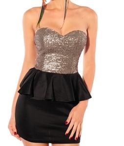 Image of Pre Order Black Gleam Dress
