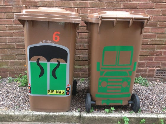Image of Land Rover & Horse Box Bin Stickers