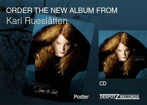 Image of Kari Rueslåtten album Time to tell [CD/POSTER]