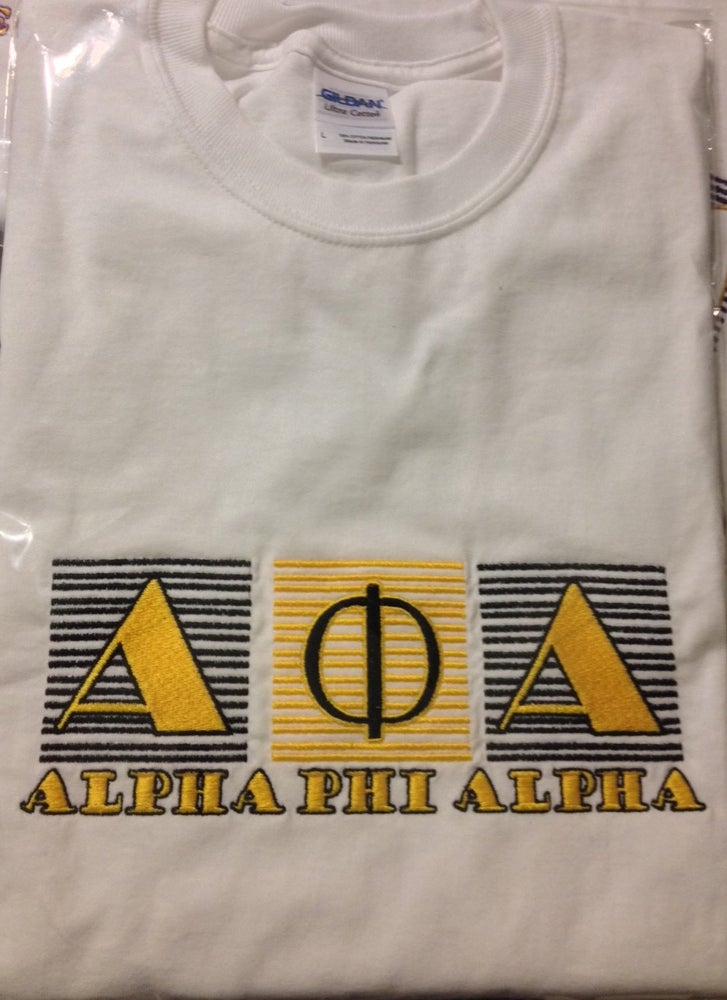 Image of Alpha Phi Alpha Embroidered Longsleeve Tees and Sweatshirts