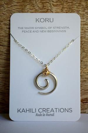 Image of Koru tribal swirl necklace