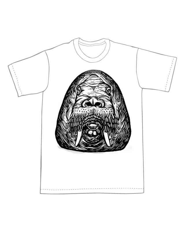Walrus Head T-Shirt (B2) **FREE SHIPPING**