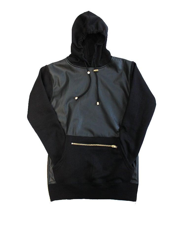Image of Leather Hoody