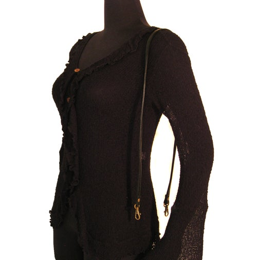 """Image of Short Crossbody / Long Shoulder Strap - Choose Leather Color - 40"""" Length, 1/2"""" Wide, #13 Hooks"""