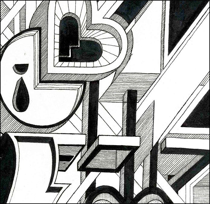 Image of 2011 - Rain of Pain (Black and White)