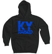 Image of Ky Raised Black / KY Blue Hooded Sweatshirt