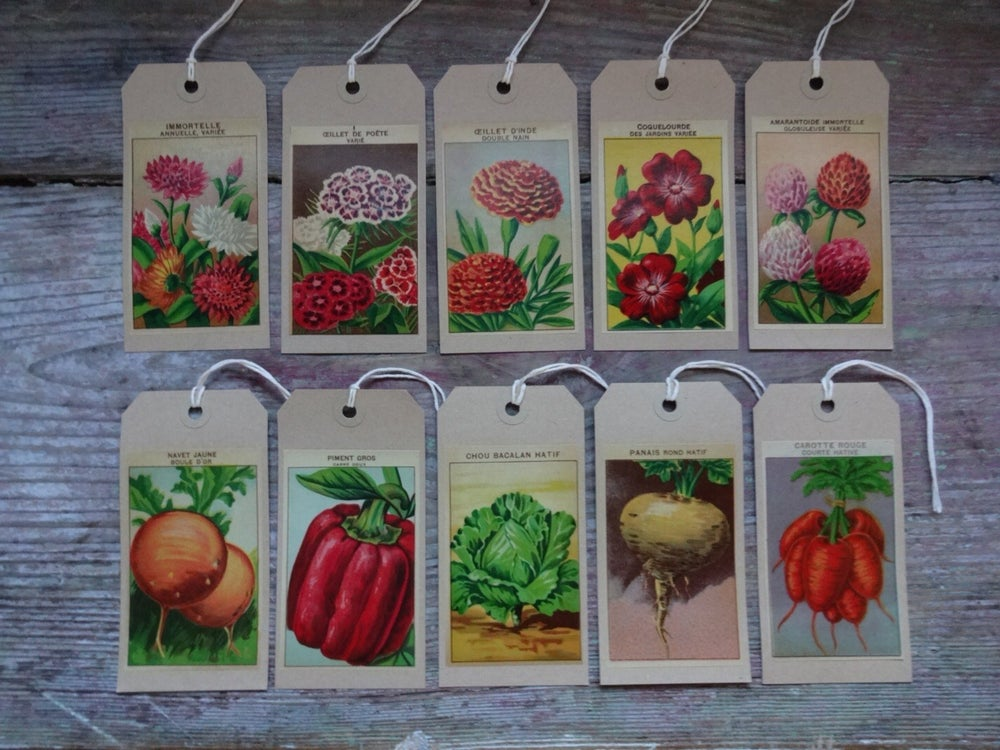 Image of Set of 10 mixed Gift Tags