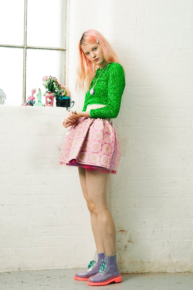 Image of Rose Blair Plastic Wrap Around Mini Skirt