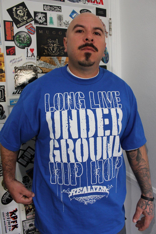 Long Live Underground Hip Hop Tee  (Black, Royal Blue or Red)