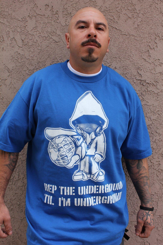 Realizm Underground Character Tee (Black & Royal Blue) (Men & Women's)