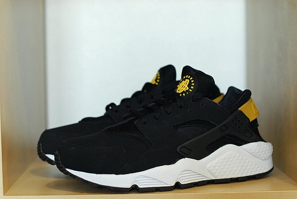 new style good quality performance sportswear Nike Huarache LE - BLACK / TOUR YELLOW