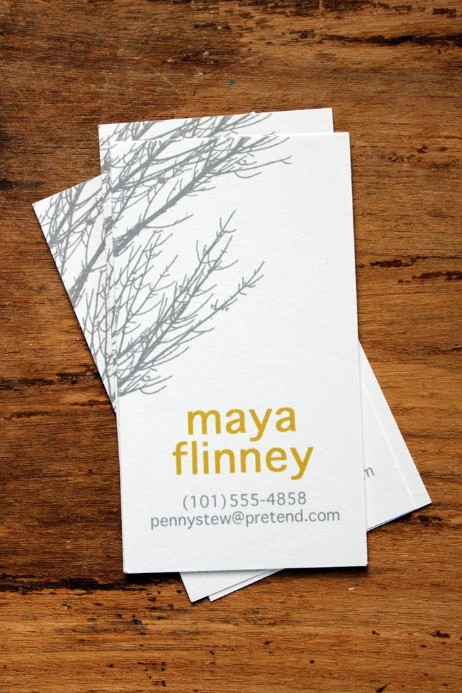 Image of Gray Branches Calling Cards
