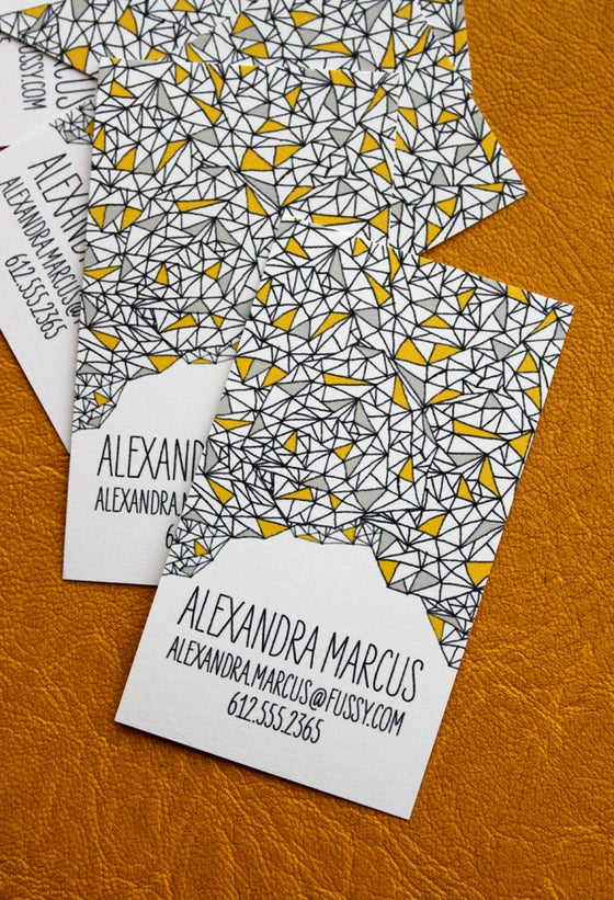 Image of Triangle Pattern Calling Cards