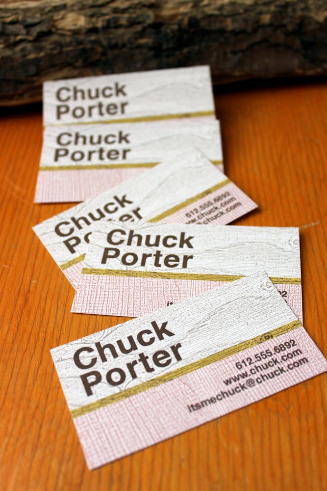 Image of Wood Grain Calling Cards