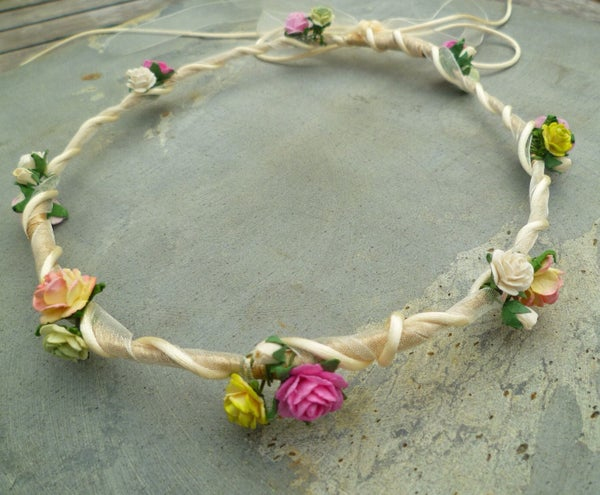 Beth Bridemaid Floral Hair Garland - Laura Pettifar Designs