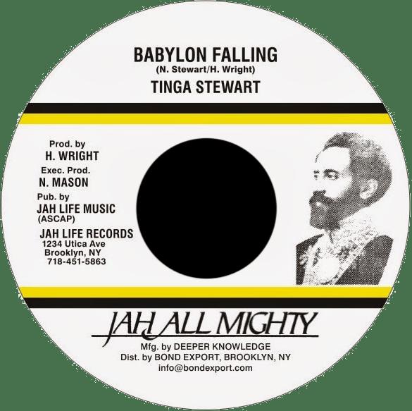 "Image of Tinga Stewart - Babylon Falling 7"" (Jah All Mighty)"