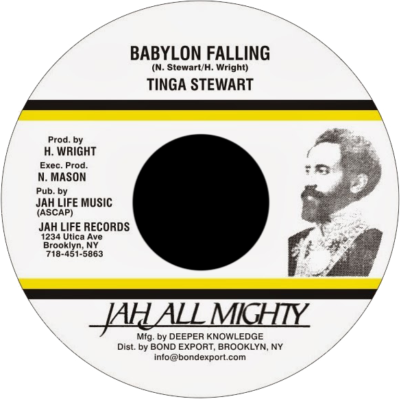 "Image of Tinga Stewart - Babylon Falling 7"" (Jah All Mighty)"