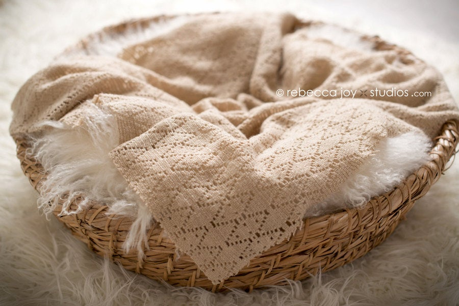 Image of {Crochet Fawn} Mini Blanket