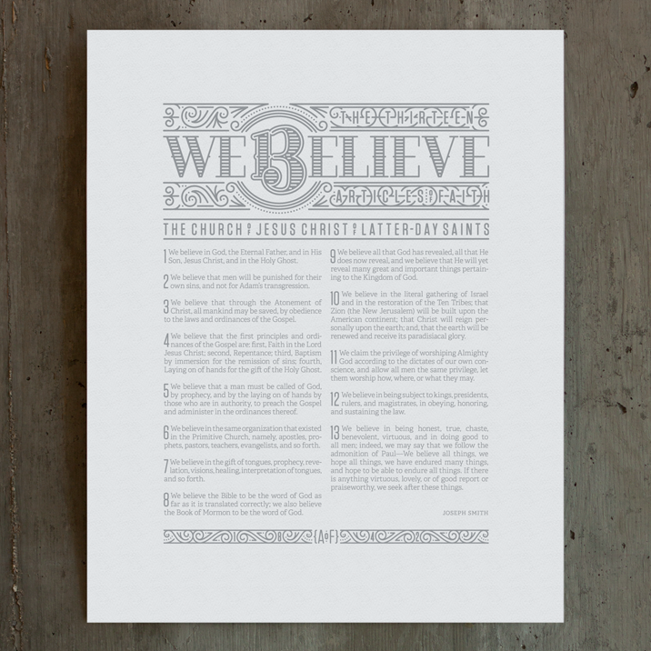 Image of We Believe: Articles of Faith