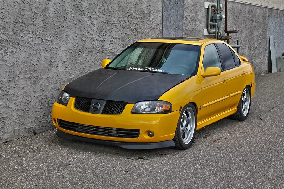 Image of (B15) Type R Polyurethane Front Lip 04-06 Sentra (All trim)