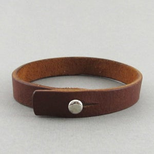 Image of Unisex Brown Leather bracelet