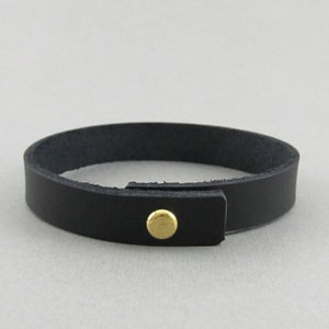 Image of Unisex Black Leather bracelet