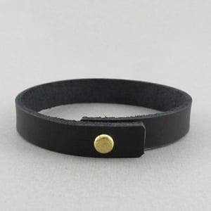 Image of Unisex Black Leather bracelet