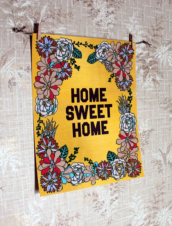 Image of Succulent Home Sweet Home-11 x 14 print