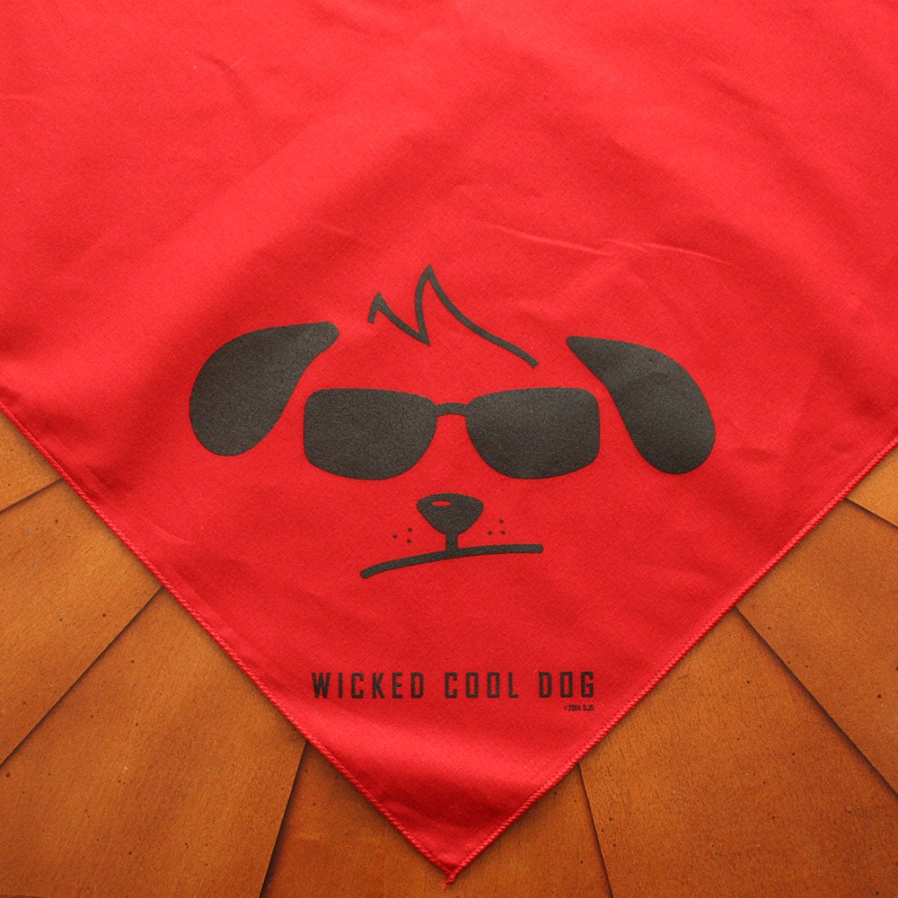 Image of Wicked Cool Dog Floppy Eared Red Bandana