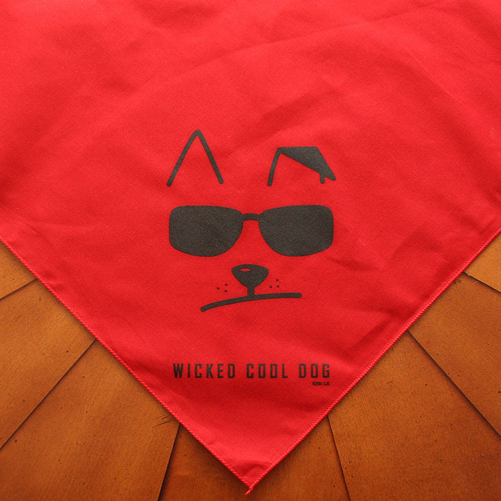 Image of Wicked Cool Dog Pointy Eared Red Bandana