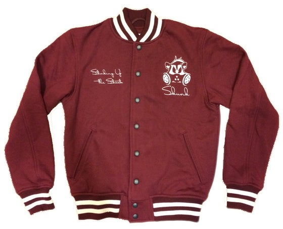 Image of Skunk Letterman | Burgundy