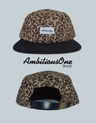 Image of 5 panel camper hat (leopard)