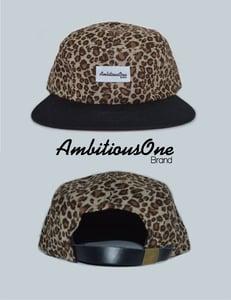 Image of 5 panel camper hat (leopard)