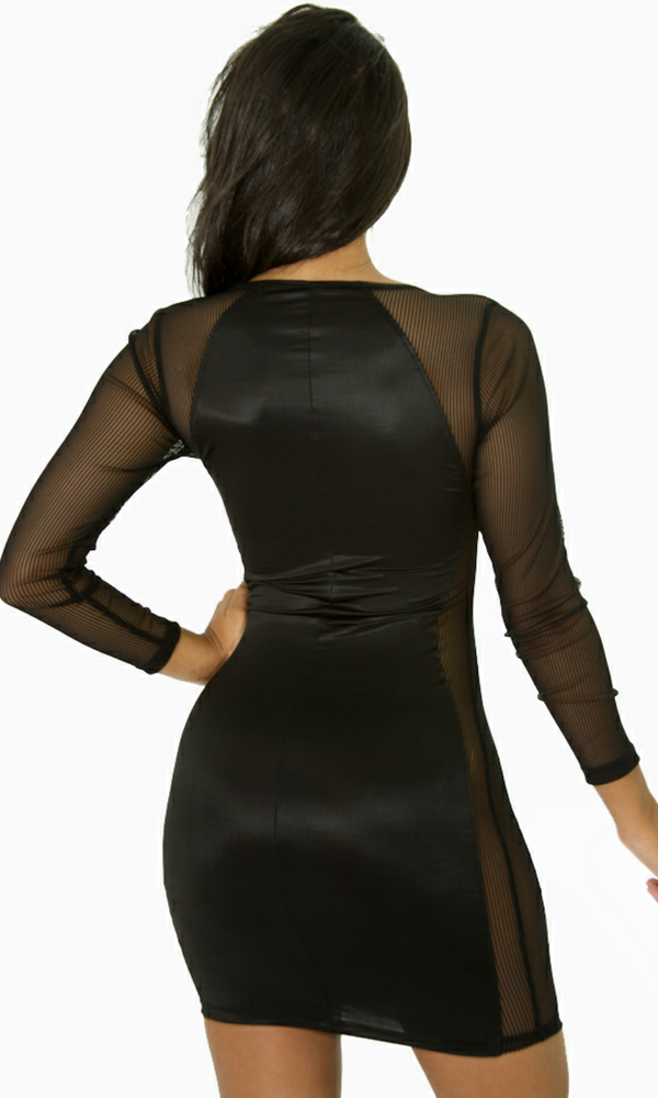 Image of I Heart Mesh Body Con Dress