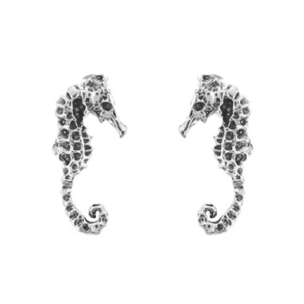 Image of Seahorse Stud Earrings in Sterling Silver