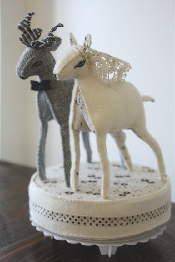 Image of deer wedding cake topper
