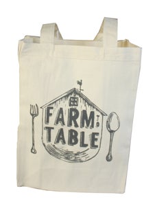 Image of Blockhead Press Farm to Table tote bag